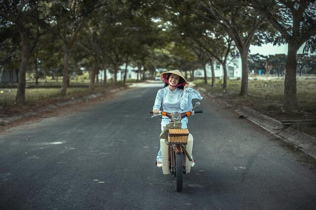 Rückenprotektor Motorrad Frau