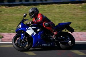 Rückenprotektor Motorrad yamaha blau